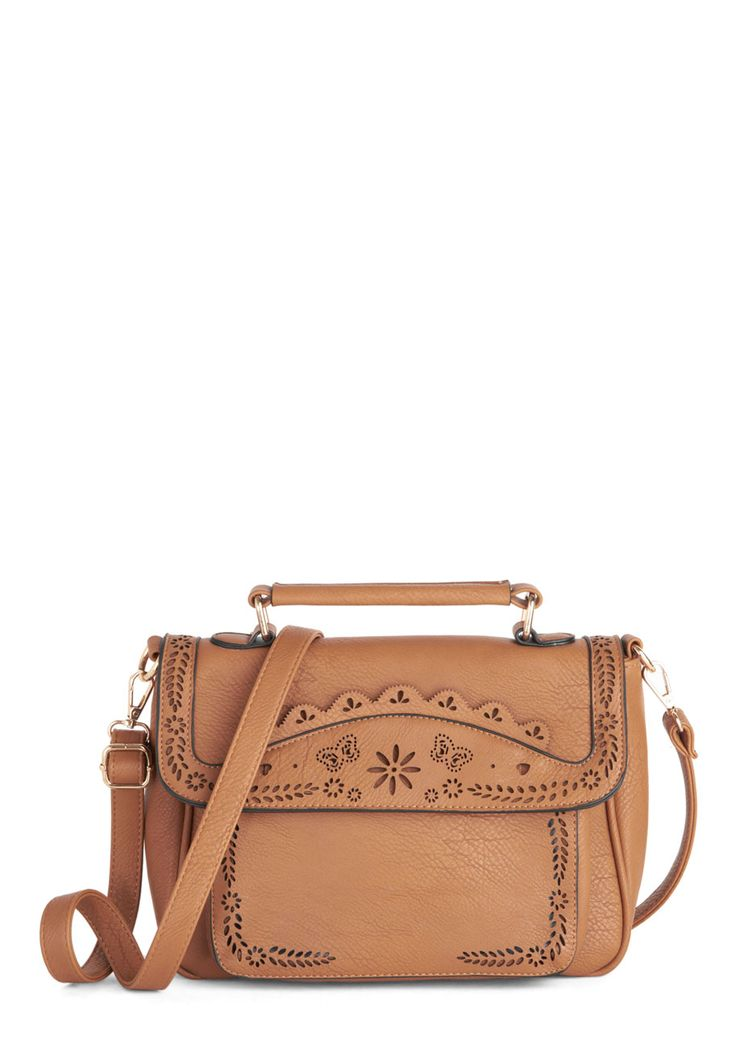 Leave Your Mark Bag. Your daily ensembles are unforgettable and eye-catching accessories like this crossbody bag make them wonderfully trendsetting and totally you! #tan #modcloth