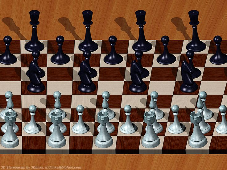 Chess. Single Image Stereogram by 3Dimka.deviantart.com on @DeviantArt