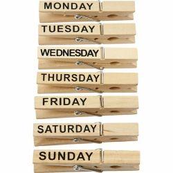 Houten week knijpers