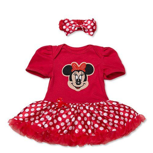 Choice of Mickey/Minnie Mouse Set. Romper, Skirt and Headband