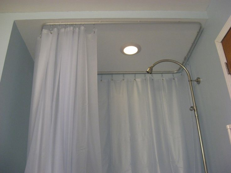 Curtains Ideas ceiling track shower curtain : 17 Best images about Shower Curtains and Tracks on Pinterest ...