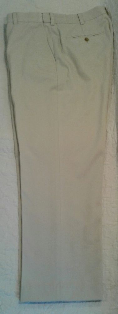 ORVIS Beige Mens Casual Pants Chinos Size 34 W x 28 Inseam #Orvis #CasualPants