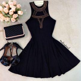 Vestido Naiara  Jacquard Premium C/ BOJO  (COR PRETO)                                                                                                                                                                                 Mais