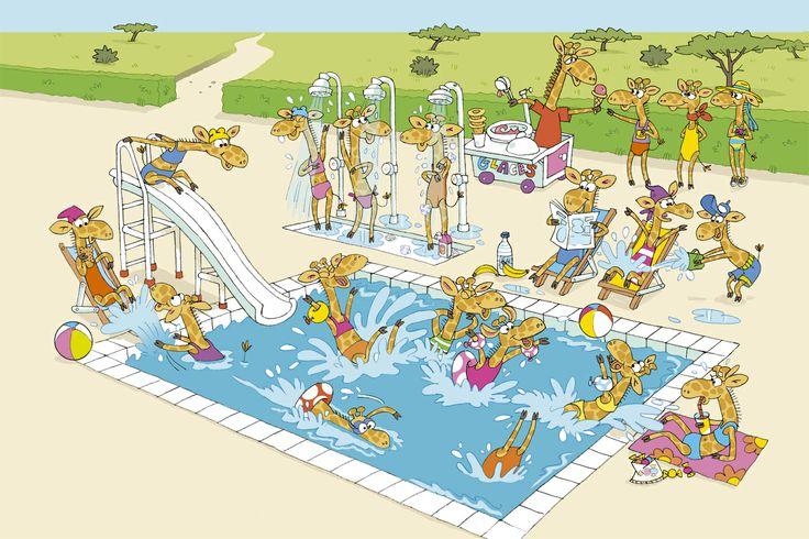 Praatplaat zwembad voor kleuters  / La-piscine