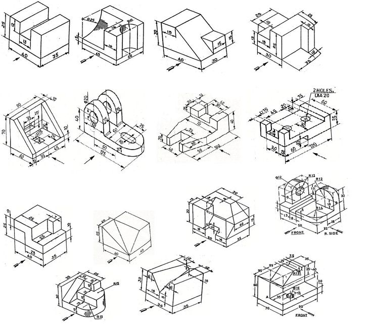 21 best Isometric \ Technical Drawing Samples images on Pinterest - 3d graph paper