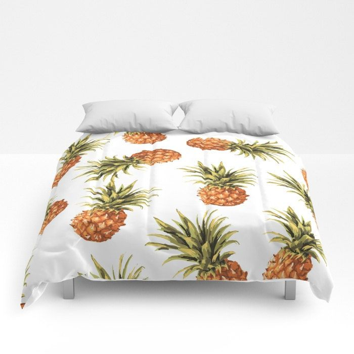 Pineapples Comforter - Pineapple Bedding - Full Size Comforter - Queen Size Comforter - King Size Comforter - Aldari Home by AldariHome on Etsy