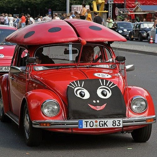 lady bug VW Beetle | CostMad do not sell this idea/product but please visit our blog for more funky ideas