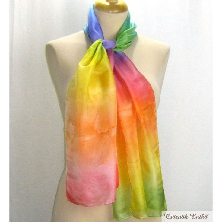 Genuine Authentic Art. Woman Birthday Gift. Silk scarf for children. Children's scarfArt to wear. Unique Gift. Silk Scarves for her. Women's Clothing.