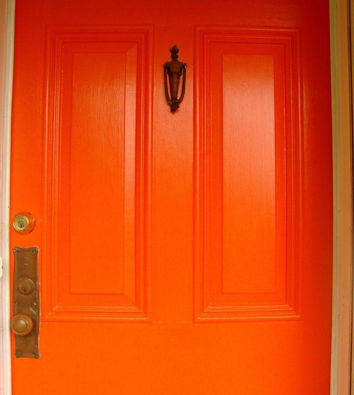 Orange Door  Trend on  Blogher    A Bright Pop of Color 27 best Front door ideas images on Pinterest   Windows  Front door  . Front Door Color Trends 2014. Home Design Ideas