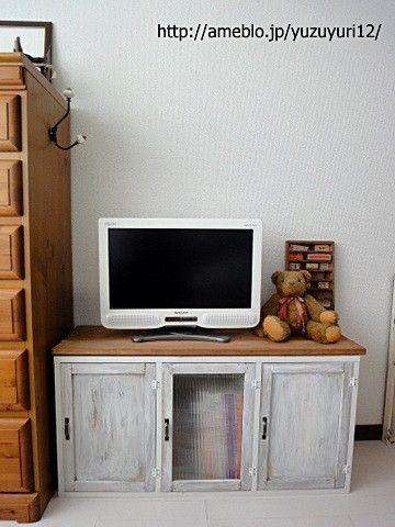 DIY】カラーボックスでテレビ台を作る(1)|『yumeri &』*ゆずゆり ...