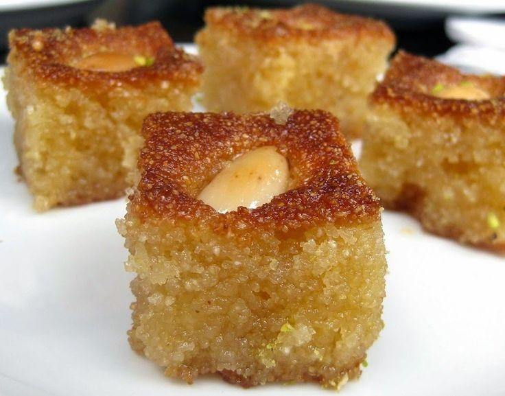 Ρεβανί Αγρινίου - Greek traditional dessert with semolina, olive oil & sugar