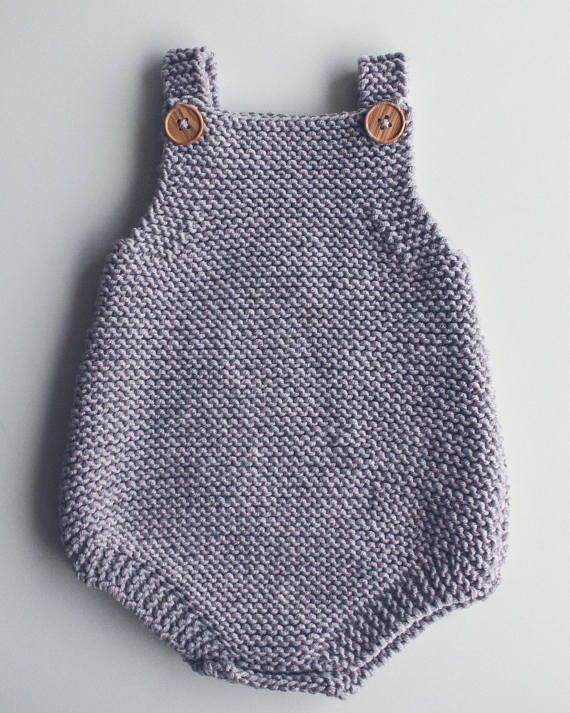 Baby All-In-One Knitting Pattern Eve Romper PDF Knitting
