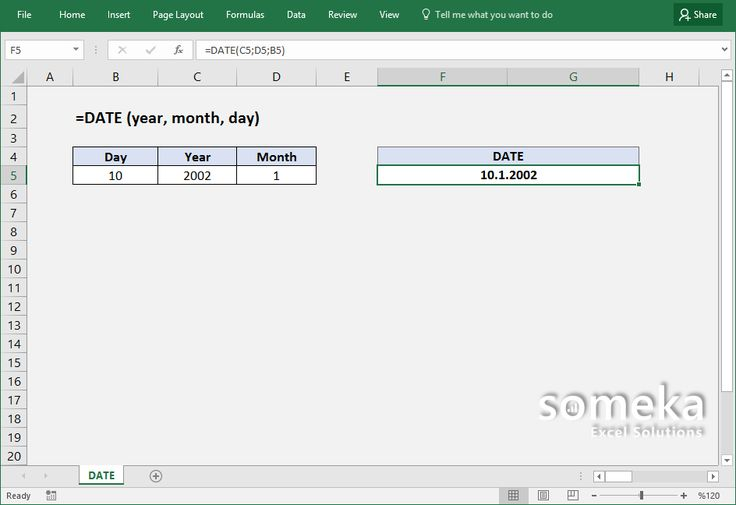 How to use Excel DATE function?