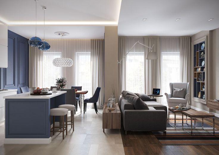 Un appartement contemporain à St Petersbourg