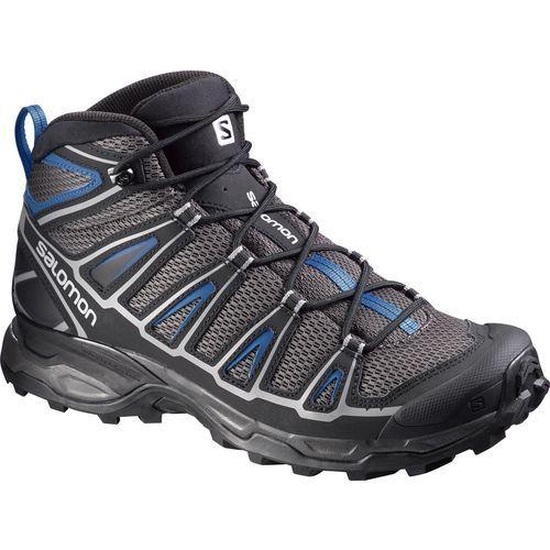 Salomon Men's X Ultra Mid Aero Hiking Boots (Grey Light/Medium Blue, Size 11.5) - Men's Outdoor at Academy Sports