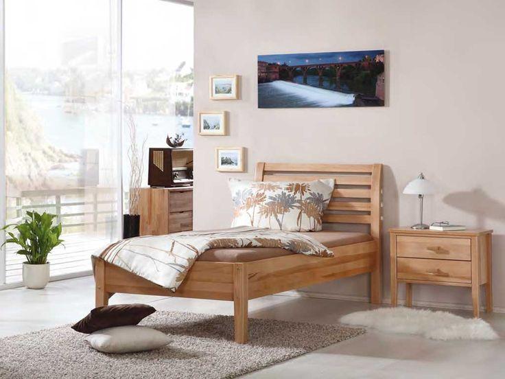 Łóżko z drewna bukowego Nina 90