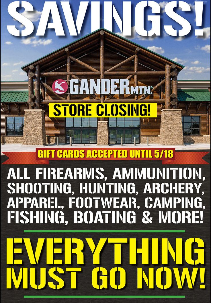 Gander Mountain is Closing. Clearance on Now http://ift.tt/MSiHmH