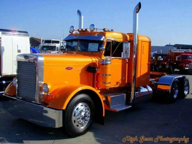 Trucks Custom Big Rig Orange : Best images about custom rigs on pinterest peterbilt