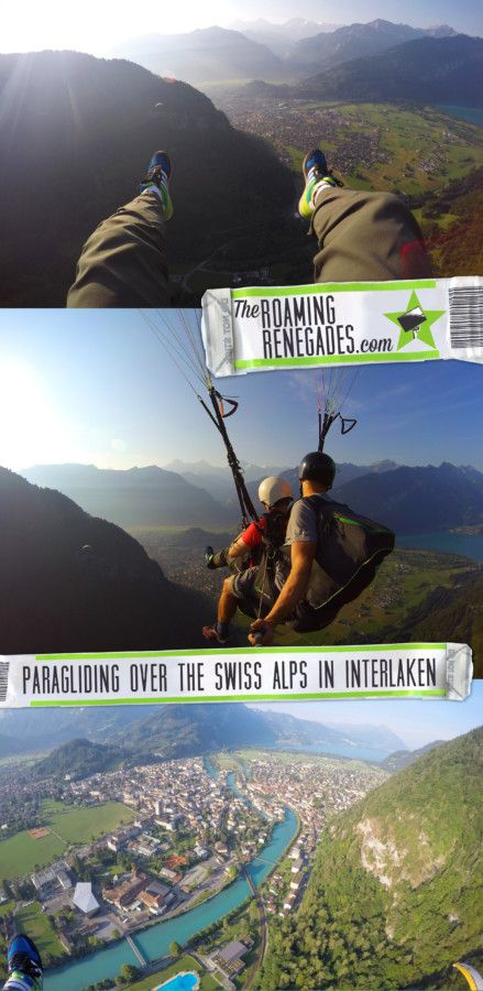 Paragliding 4000ft above the most amazing Alpine Scenery over the mountains of Interlaken, Switzerland, the adventure capital of the world! > http://www.theroamingrenegades.com/2015/08/paragliding-above-Interlaken-Swiss-Alps.html #Traveltips #bucketlist #travel #Switzerland #Interlaken #backpacking #adventure #worldtrip #Travel #backpacking #Paraglide #Mountains #Adventureholiday #hike #climb #lake #TheAlps #amazing
