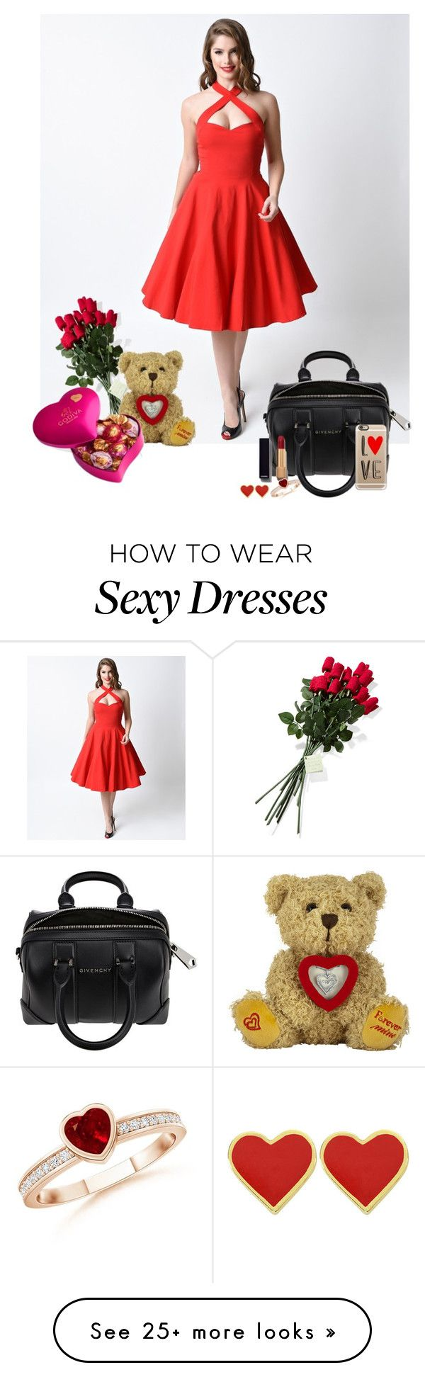 """""""A Sexy Valentine's Day Dinner"""" by storyofmylife-1d on Polyvore featuring Collectif, Givenchy, Chanel, Casetify, Hanky Panky, Godiva, women's clothing, women, female and woman"""