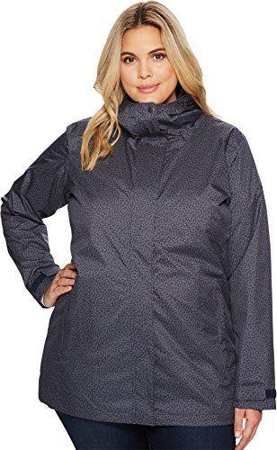 eee60925cec97 Columbia Womens Splash A Little II Plus Size Jacket India Ink Geo Lights  Print 1X Columbia Women s Splash A Little II Plus Size Jacket…