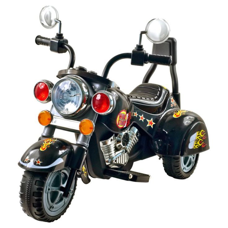 Lil Rider Harley Wild Child Motorcycle Battery Powered Riding Toy - Black - This tough-guy Harley-style battery-powered motorcycle will quickly become your son's favorite and coolest toy that he owns. Of course, at about...