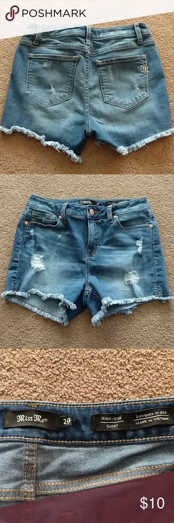 Miss Me high-rise shorts High rise shorts Miss Me Shorts Jean Shorts