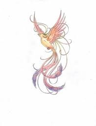 Phoenix tattoo. This is pretty, but maybe not in those colours