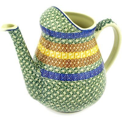 Polish Pottery Pitcher 71 oz Mediterranean Sea -- Clicking on the VISIT button will lead you to find similar product