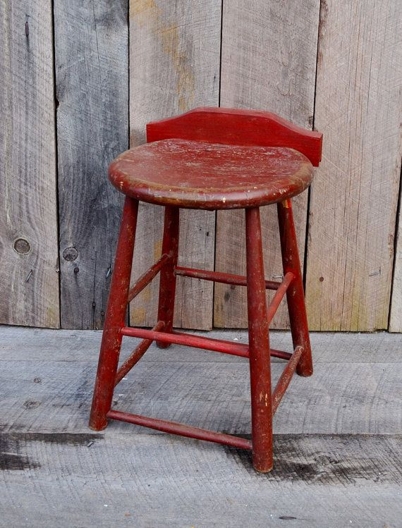 Dark Red Wooden Stool Primitive Rustic by RelicsAndRhinestones & 14 best Bank images on Pinterest | Chairs Wood and Wood furniture islam-shia.org