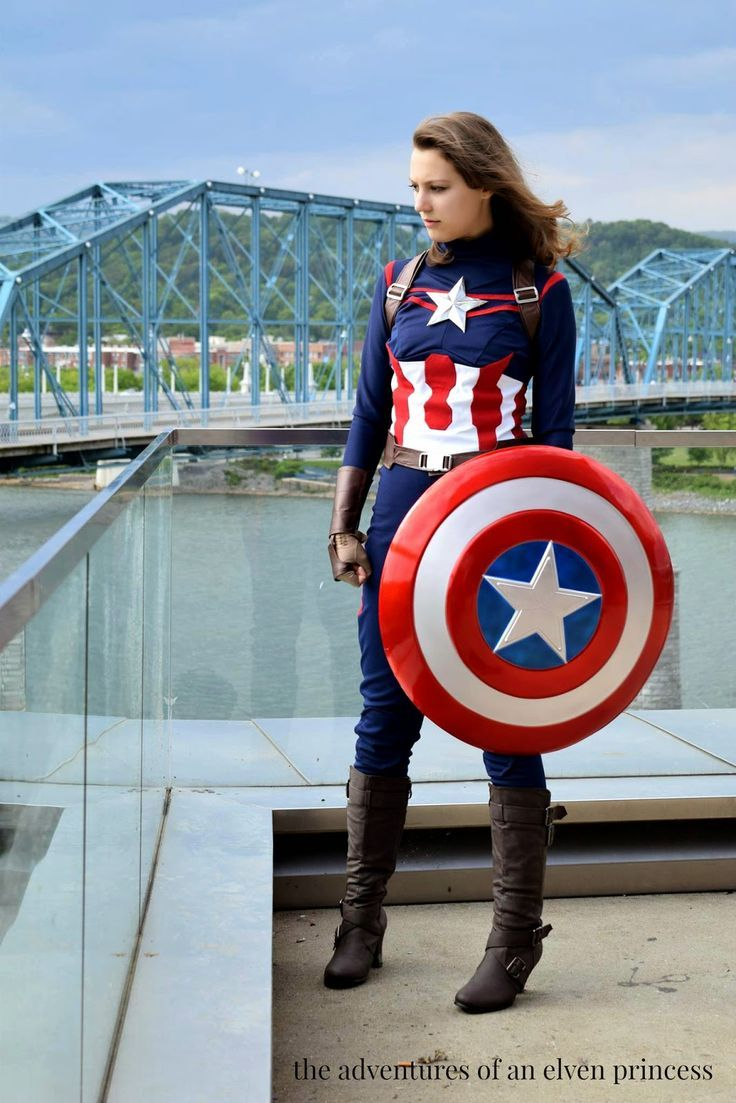 The Adventures of An Elven Princess: The First Full Look at my completed fem Captain America costume!!!