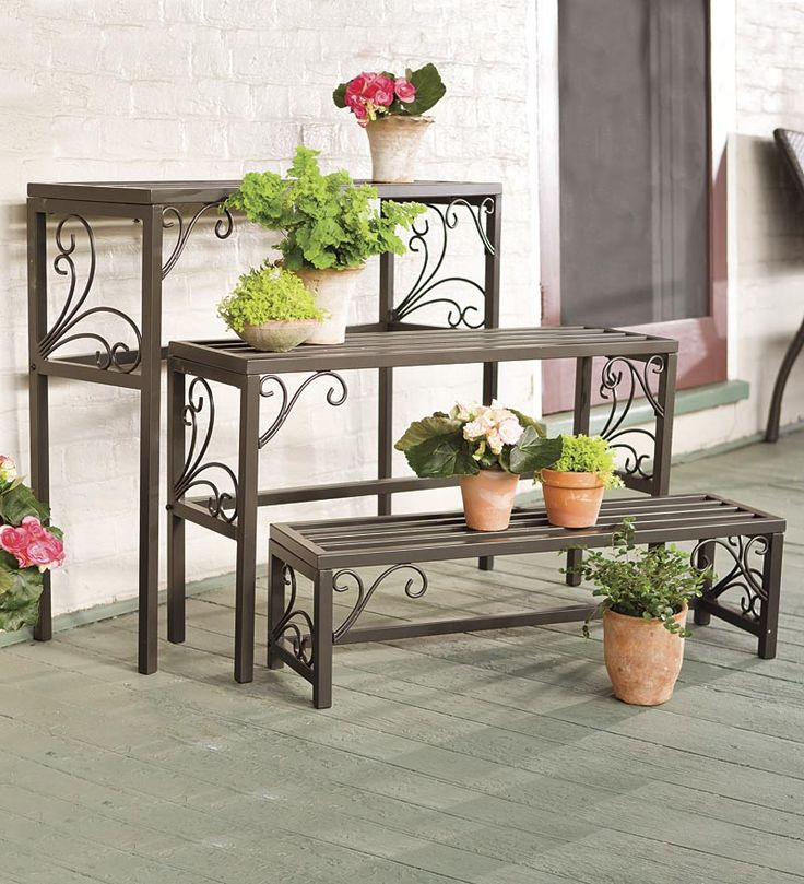185 best Jardin images on Pinterest Wrought iron Plant stands