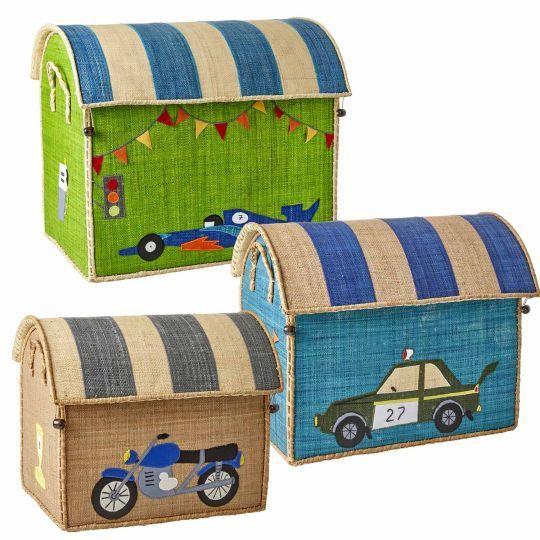 Rice Korb Spielzeugkorb Rennauto, Polizeiauto, Motorrad – Ruby's Aga