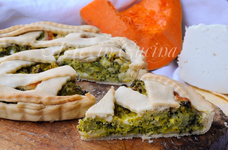 Torta salata broccoli e provola in pasta brisè vickyart arte in cucina