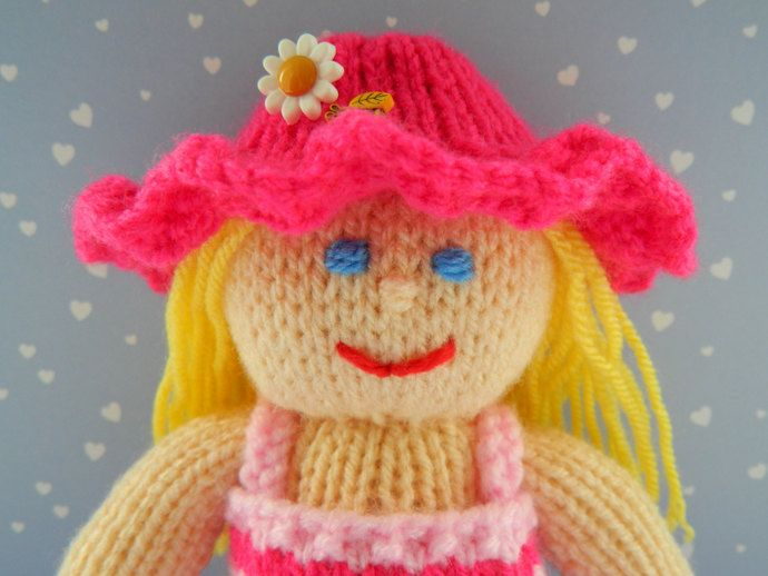 Petunia - A Summer Knitted Doll - Toy Knitting Pattern by Joanna Marshall, £3.00 GBP