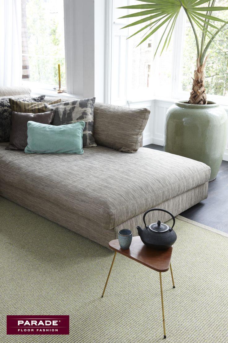 Met een karpet en accessoires kan je een trend vrij eenvoudig toepassen. Het karpet is gemaakt van tapijt Studio van Parade.