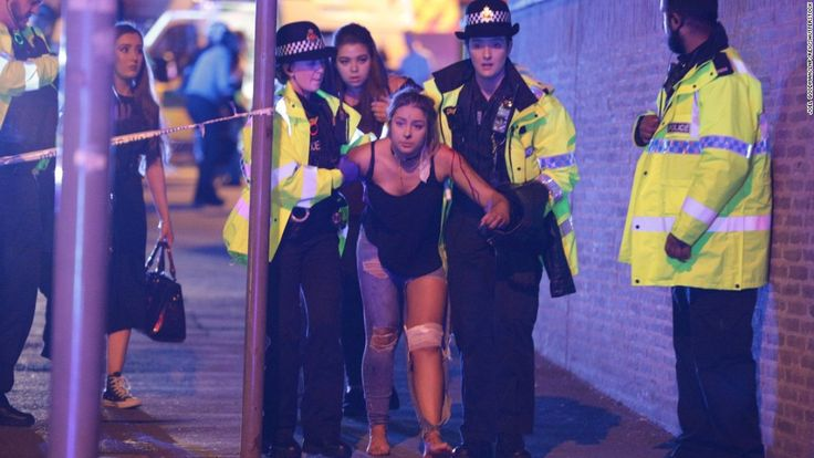 At least 19 people are dead and about 50 injured in a possible terrorist incident Monday night at Manchester Arena in England, where pop singer Ariana Grande was performing, Greater Manchester Police said.