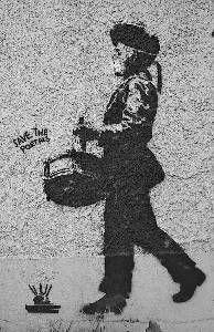 Hope this graffiti returns to the city of Bergen some day. #buekorpsgutt