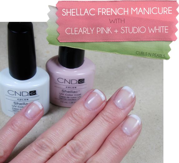 Mani Monday - Shellac French Manicure Options - CND #Shellac Clearly Pink and Studio White - Photo and Swatches    #nails #beauty