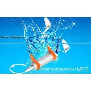 LETTORE MP3 RADIO FM SUBACQUEO IMPERMEABILE 4GB WATERPROOF NUOTO PISCINA IPX8