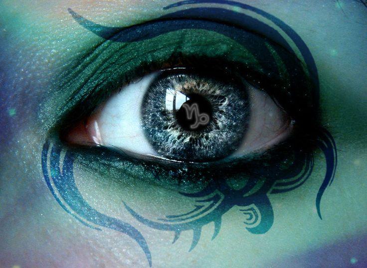 Capricorn: Art Eye, Capricorn In Love, Zodiac, Capricorn By Darla, 5 Capricorn, Capricorn January, Eye Art, Capricorn Eyes