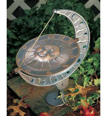 Whitehall Products Large Sun And Moon Garden Sundial