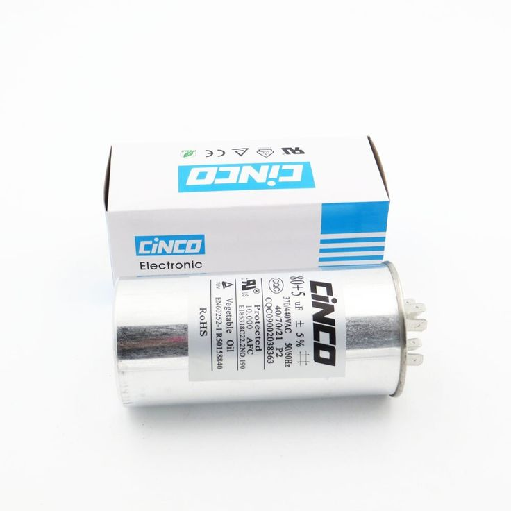 Run Capacitor Air Conditioner 80uf 5uf 370 440vac Compressor Motor Start Cbb65 Aluminum Can P2 Cbb65a 1 370v 440v Capacitor Aluminum Can Compressor