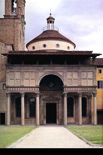 Brunelleschi, cappella pazzi, santa croce a Firenze