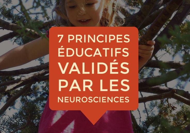 7 principes éducatifs fondamentaux validés par les neurosciences cognitives, affectives et sociales. Pour libérer les vrais potentiels de l'être humain !