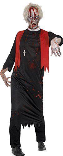 Smiffy 's Hombre Halloween Zombie Alta disfraz de Sacerdote (Tamaño Grande), XL