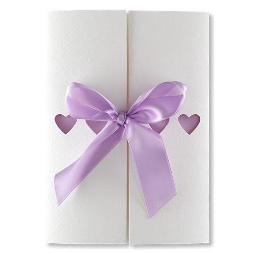 Ribbons Lilac Wedding Invitations BMV313LI