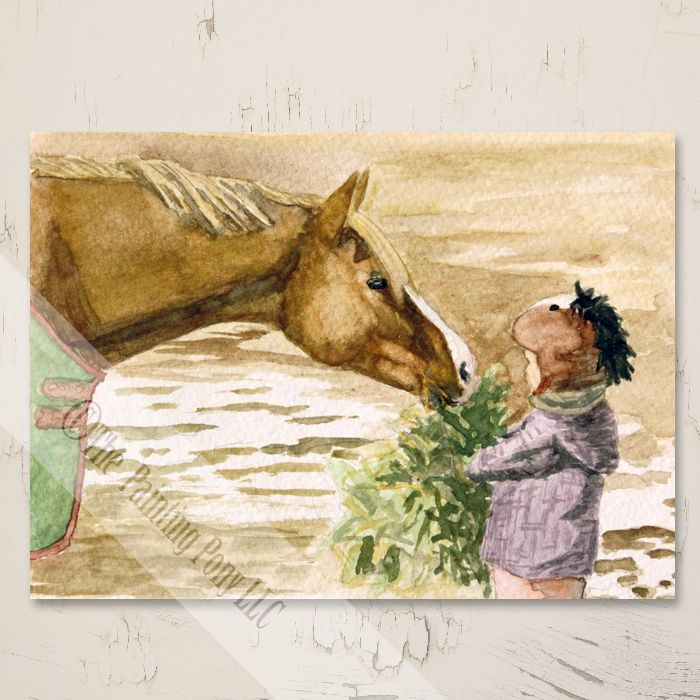 Morning Hay Horse Christmas Cards (10 pk) - The Painting Pony