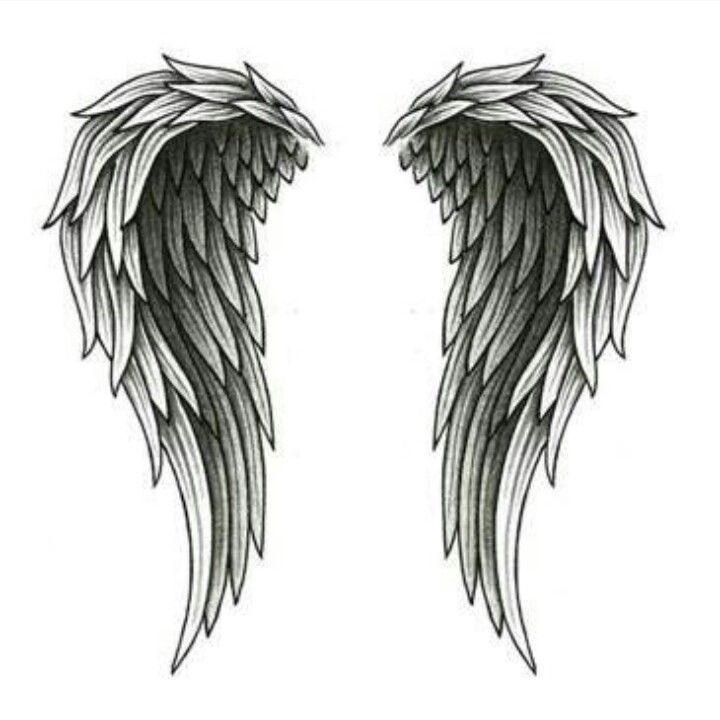 .... >>> See more by visiting the picture  Learn more at  http://wefollowpics.com/wings-and-cross-angel-wings-tattooed-on-back-angel-wings-tattoo-cute-cross-symbol-and/