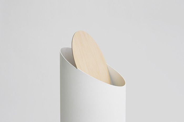 The Swing Bin is composed of exactly two pieces: a cylinder and an oval, precisely cut so that lid swings open and shut ever so gently. A prototype of the elegant Swing Bin first light up design circles four years ago, and now designer Shigeichiro Takeuchi has finally decided to make Swing Bin a reality.